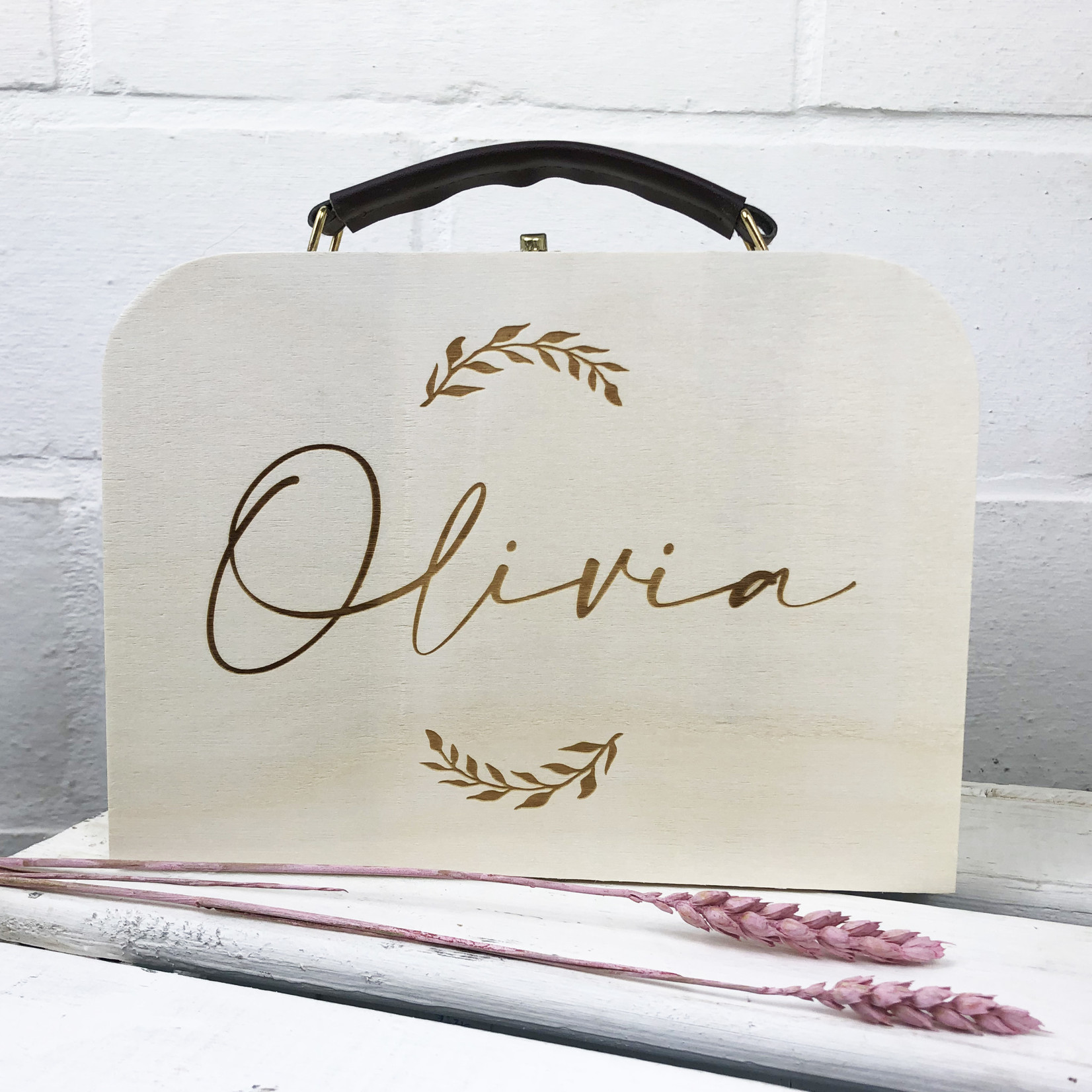 La Vie Divine Houten koffertje gegraveerd