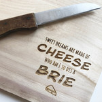 La Vie Divine Serveerplank 'sweet dreams are made of cheese'