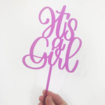 La Vie Divine Taart Topper 'It's a girl' roze
