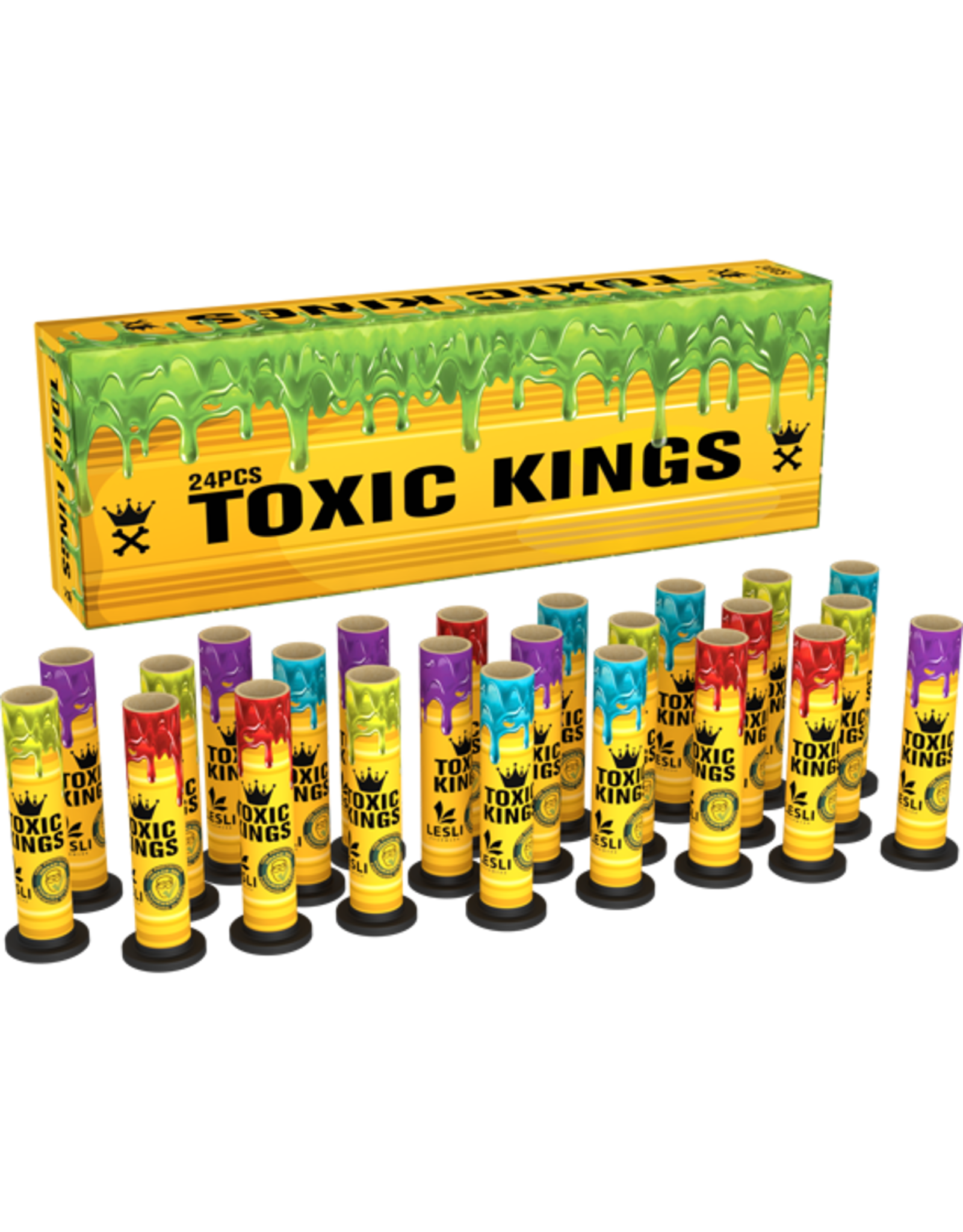 Lesli Vuurwerk Toxic Kings 24 pcs