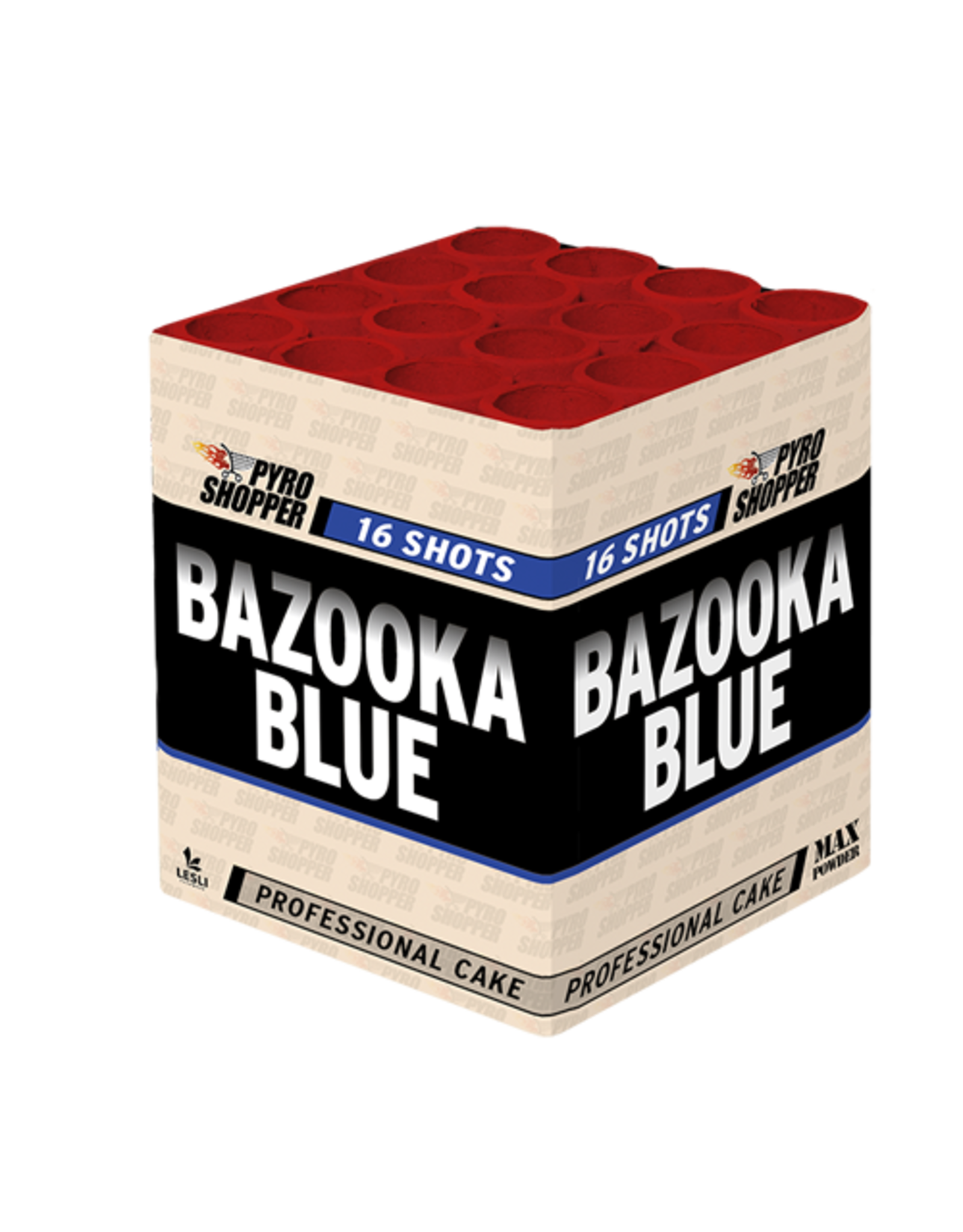 Lesli Vuurwerk Bazooka Blue 16 shots