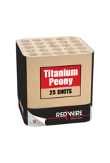 Red Wire Titanium Peony 25 shots