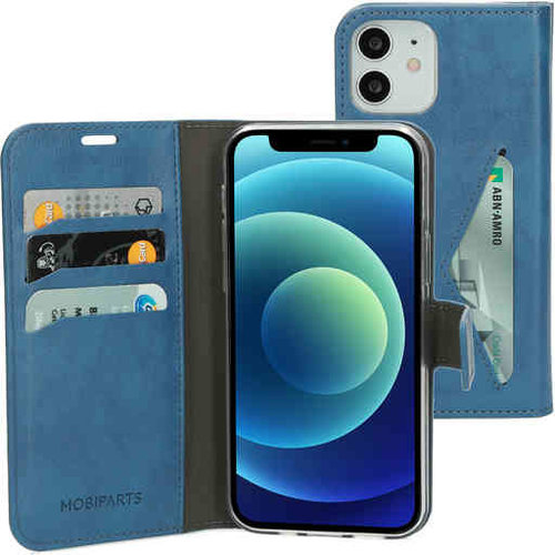 Mobiparts Classic Wallet Case - Apple iPhone 12/12 Pro SteelBlue