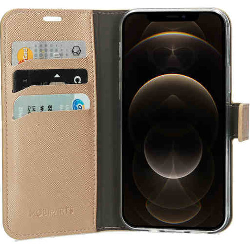 Mobiparts Saffiano Wallet Case - Apple iPhone 12/12 Pro Gold