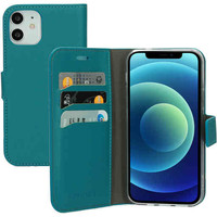 Saffiano Wallet Case - Apple iPhone 12/12 Pro Turquoise