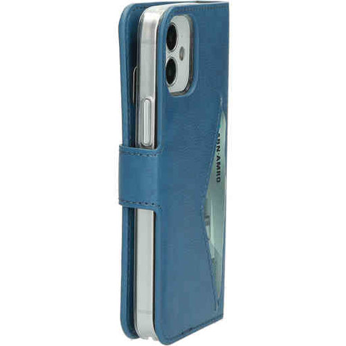 Mobiparts Classic Wallet Case - Apple iPhone 12 mini Steelblue