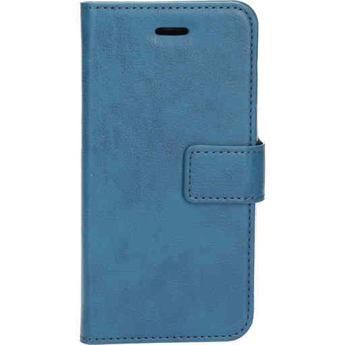 Mobiparts Classic Wallet Case - Apple iPhone SE Steelblue