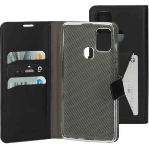 Mobiparts Classic Wallet Case - Samsung Galaxy A21S Black