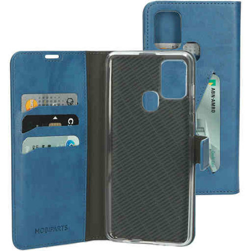 Mobiparts Classic Wallet Case - Samsung Galaxy A21S Steelblue
