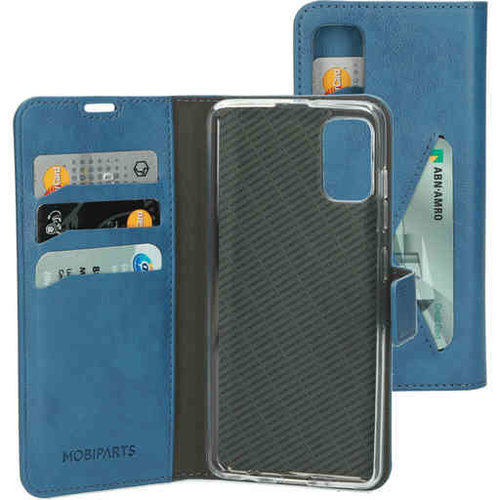 Mobiparts Classic Wallet Case - Samsung Galaxy A41 Steelblue