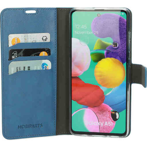Mobiparts Classic Wallet Case - Samsung Galaxy A51 Steelblue