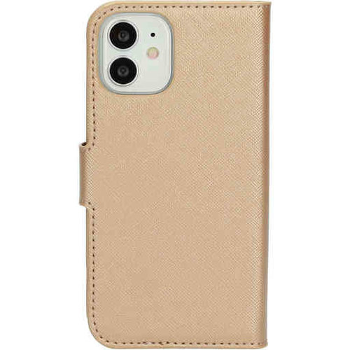 Mobiparts Saffiano Wallet Case - Apple iPhone 12 mini Gold