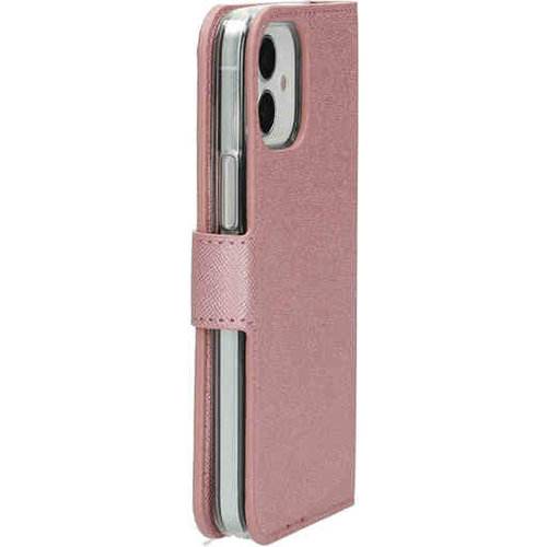 Mobiparts Saffiano Wallet Case - Apple iPhone 12 mini Pink