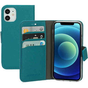 Mobiparts Saffiano Wallet Case - Apple iPhone 12 mini Turquoise