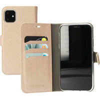 Saffiano Wallet Case - Apple iPhone 11 Gold