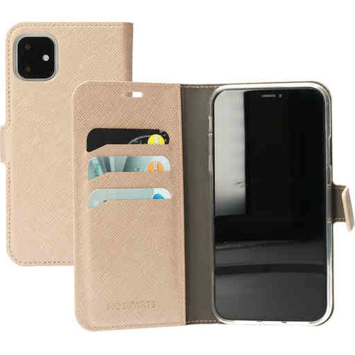 Mobiparts Saffiano Wallet Case - Apple iPhone 11 Gold