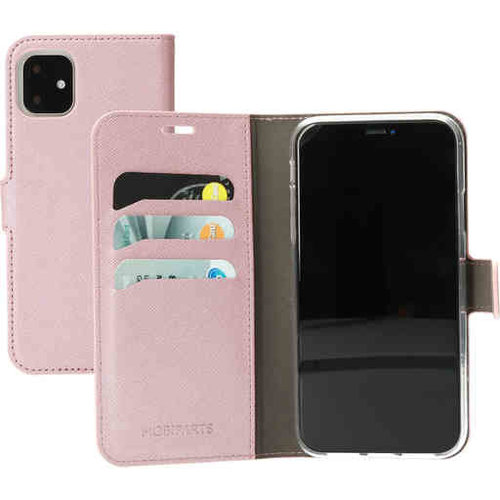 Mobiparts Saffiano Wallet Case - Apple iPhone 11 Pink