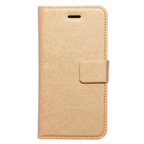 Mobiparts Saffiano Wallet Case - Apple iPhone 8 Gold