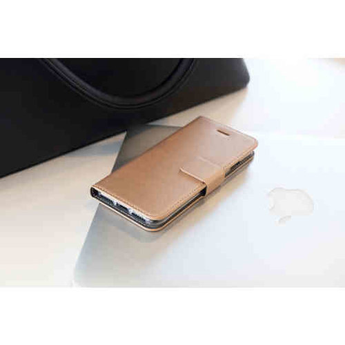 Mobiparts Saffiano Wallet Case - Apple iPhone SE Gold