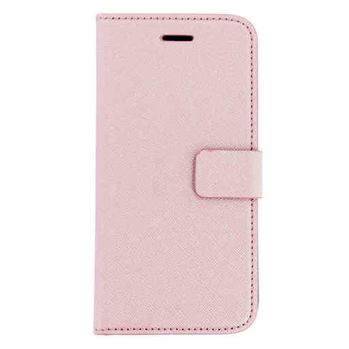 Mobiparts Saffiano Wallet Case - Apple iPhone 8 Pink