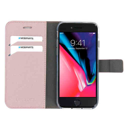 Mobiparts Saffiano Wallet Case - Apple iPhone SE Pink