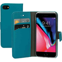 Saffiano Wallet Case - Apple iPhone SE Turquoise
