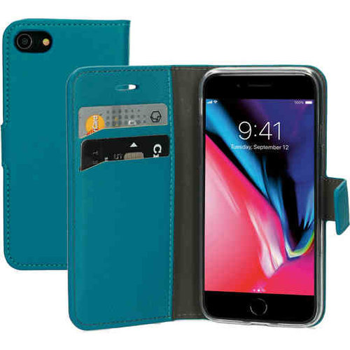Mobiparts Saffiano Wallet Case - Apple iPhone SE Turquoise