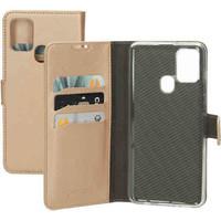 Saffiano Wallet Case - Samsung Galaxy A21S Gold