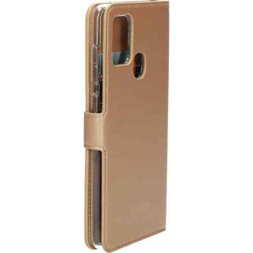 Mobiparts Saffiano Wallet Case - Samsung Galaxy A21S Gold