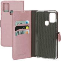 Saffiano Wallet Case - Samsung Galaxy A21S Pink