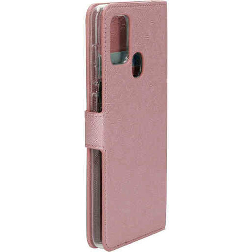 Mobiparts Saffiano Wallet Case - Samsung Galaxy A21S Pink