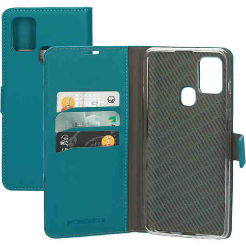 Mobiparts Saffiano Wallet Case - Samsung Galaxy A21S Turquoise