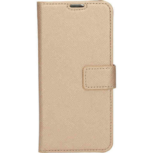 Mobiparts Saffiano Wallet Case - Samsung Galaxy A41 Gold