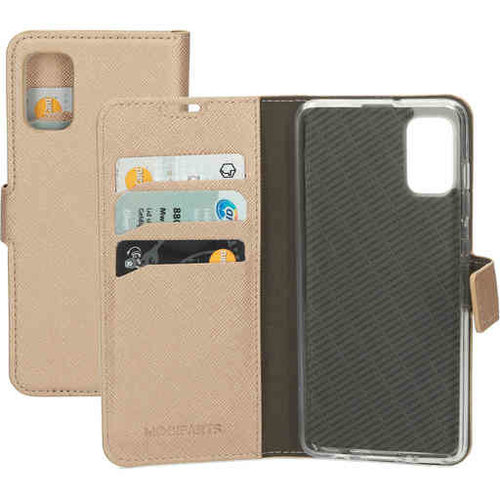 Mobiparts Saffiano Wallet Case - Samsung Galaxy A51 Gold