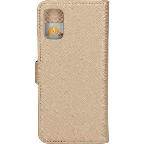 Mobiparts Saffiano Wallet Case - Samsung Galaxy A71 Gold