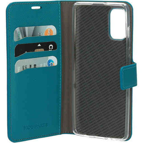 Mobiparts Saffiano Wallet Case - Samsung Galaxy A41 Turquoise