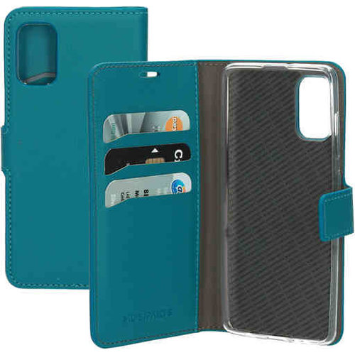 Mobiparts Saffiano Wallet Case - Samsung Galaxy A51 Turquoise