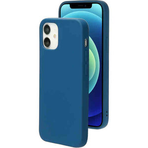 Mobiparts Silicone Cover - Apple iPhone 12/12 Pro Blueberry Blue