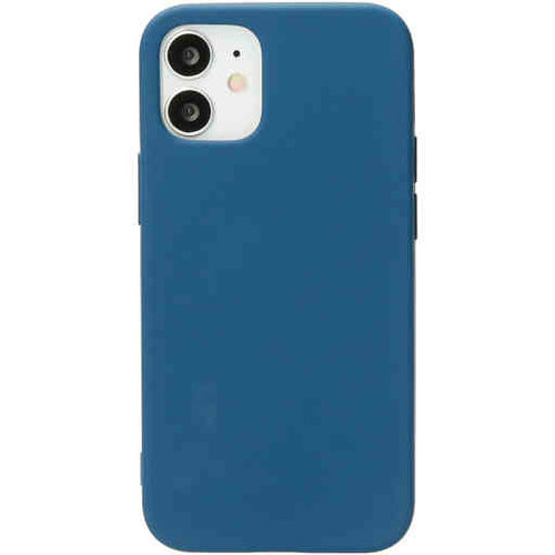 Mobiparts Silicone Cover - Apple iPhone 12 mini Blueberry Blue