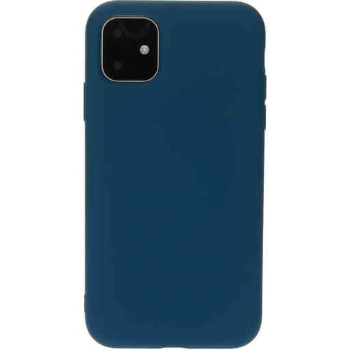 Mobiparts Silicone Cover - Apple iPhone 11 Blueberry Blue