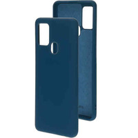 Silicone Cover - Samsung Galaxy A21S Blueberry Blue
