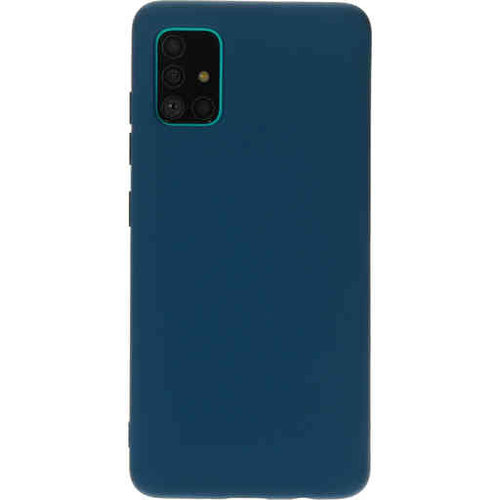 Mobiparts Silicone Cover - Samsung Galaxy A41 Blueberry Blue