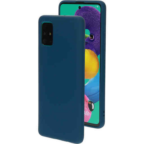 Mobiparts Silicone Cover - Samsung Galaxy A71 Blueberry Blue