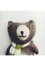 Felted Brown Bear Toy