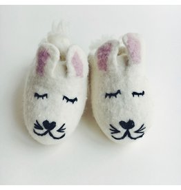 Soft Felted Baby Booties