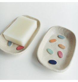 Confetti Design Ceramic Soap Dish