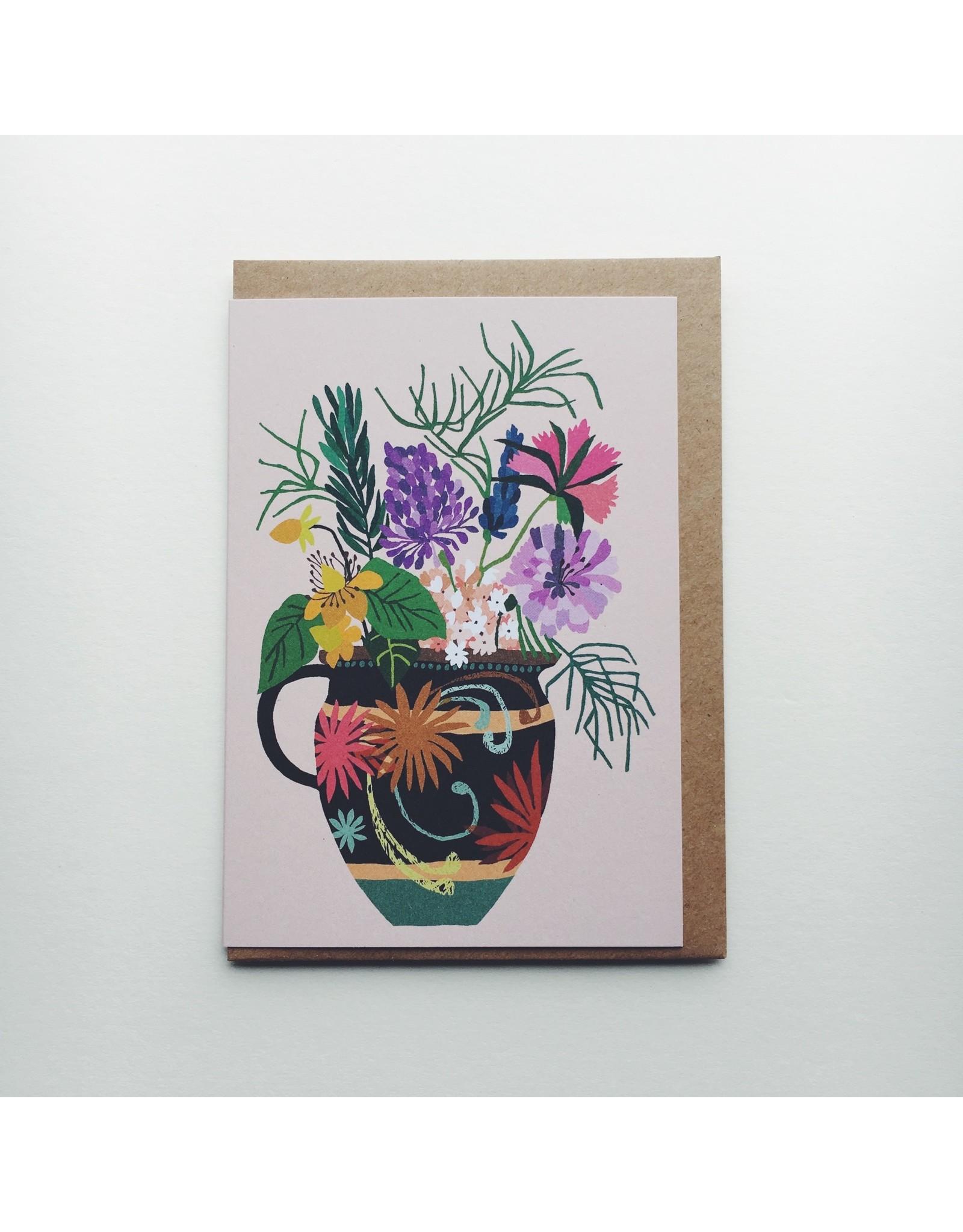 Gardeners Vase Greeting Card