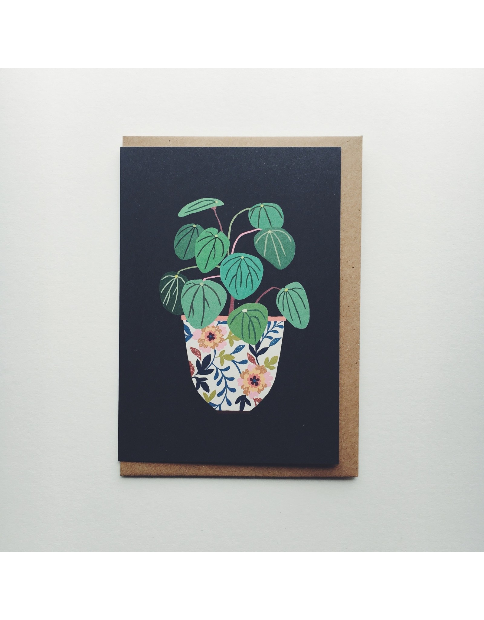 Pilea Greeting Card