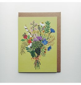 Wild Posy Greeting Card