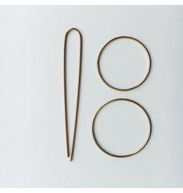 Brass Hair Pin Set